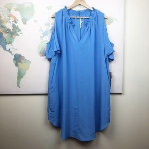 Rachel Rachel Roy Cold Shoulder Shift Dress Sz 1X
